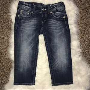 Miss Me Long Denim Shorts Size 24